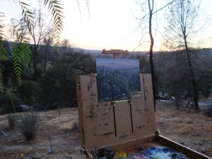 Plain air painting in the Sierra Foothills by Rita Alvarez